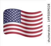 united states of america flag... | Shutterstock .eps vector #1495009028