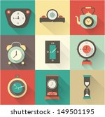 vector clock icons set | Shutterstock .eps vector #149501195