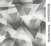 halftone dotted triangles... | Shutterstock .eps vector #1495050338