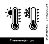 thermometer icon for hot and... | Shutterstock .eps vector #1495070195