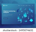 digital marketing analysis... | Shutterstock .eps vector #1495074632