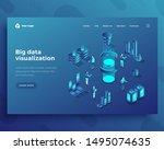 big data visualization... | Shutterstock .eps vector #1495074635