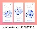 online services isometric... | Shutterstock .eps vector #1495077998