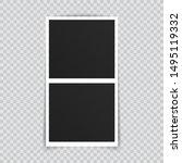 vector photo frame mockup...   Shutterstock .eps vector #1495119332