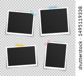 vector photo frame mockup... | Shutterstock .eps vector #1495119338