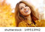 Beautiful Autumn Woman In...
