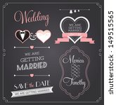 chalkboard style wedding design ... | Shutterstock .eps vector #149515565