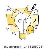 creative brainstorm concept.... | Shutterstock .eps vector #1495155725