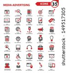 set media   advertising icons... | Shutterstock .eps vector #149517305