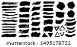 brush strokes. vector... | Shutterstock .eps vector #1495178732