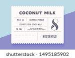 vintage minimal label. set of... | Shutterstock . vector #1495185902