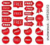 free labels  collection of red...
