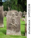 An Old Gravestone In An Englis...