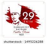 29 ekim cumhuriyet bayrami... | Shutterstock .eps vector #1495226288