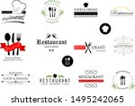 food and restaurant logo set  ... | Shutterstock .eps vector #1495242065