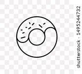 glazed donut icon isolated on...