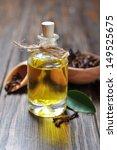 oil of cloves in a glass bottle ... | Shutterstock . vector #149525675