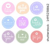 set labels and bages for... | Shutterstock .eps vector #1495258862