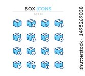 box icons. vector line icons... | Shutterstock .eps vector #1495269038