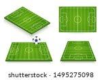 soccer field vector... | Shutterstock .eps vector #1495275098