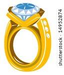 diamond gold ring | Shutterstock .eps vector #14952874