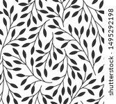 elegant floral seamless pattern ...   Shutterstock .eps vector #1495292198