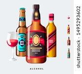 Alcohol Liquor Beer Wine Vector ...