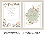 wedding invitations save the... | Shutterstock .eps vector #1495296485