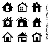 black home icons isolated on... | Shutterstock .eps vector #149529998