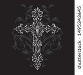 cross gothic syle vector... | Shutterstock .eps vector #1495343645