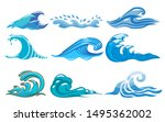 wave vector set graphic clipart | Shutterstock .eps vector #1495362002