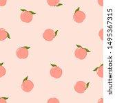 Cute Pink Peach Seamless Patte...