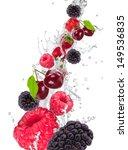 fresh fruit in water splash  | Shutterstock . vector #149536835