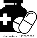 silhouette style pills and...   Shutterstock .eps vector #1495385528