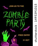 Zombie Party Vector...