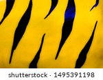 tiger pattern cement wall... | Shutterstock . vector #1495391198