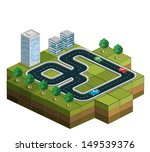 track racing with cars and... | Shutterstock .eps vector #149539376