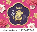 2020 chinese new year  year of... | Shutterstock .eps vector #1495417565