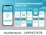 storage management app ui kit... | Shutterstock .eps vector #1495427678