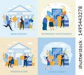 set informative flyer... | Shutterstock .eps vector #1495443278