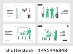 professional medical staff at... | Shutterstock .eps vector #1495446848