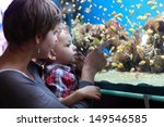 Stock photo the family has holiday at an aquarium 149546585