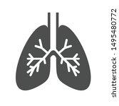 lungs internal organ vector...   Shutterstock .eps vector #1495480772