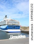 ijmuiden  the netherlands  ... | Shutterstock . vector #1495482152