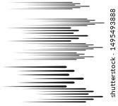 speed lines in arrow form .... | Shutterstock .eps vector #1495493888