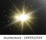 glow light effect. star burst... | Shutterstock .eps vector #1495522535