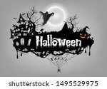 vector of halloween text design | Shutterstock .eps vector #1495529975