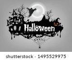 vector of halloween text design | Shutterstock .eps vector #1495529975