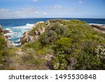 The Rugged Rocky Coastline Of...