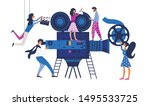 movie making process metaphor... | Shutterstock .eps vector #1495533725
